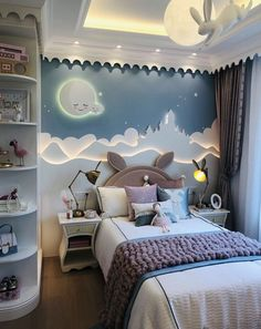 Inspirational ideas about Interior Interior Design and Home Decorating Style for Living Room Bedroom Kitchen and the entire home. Curated selection of home decor products. Baby Bedroom, Baby Room Decor, Living Room Bedroom, Room Decor Bedroom, Girls Bedroom, Ikea Bedroom, Teenage Bedrooms, Bedroom Ceiling, Wall Decor