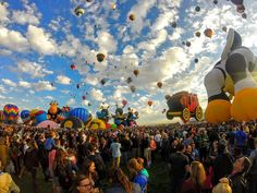 Photo of the Day! A wave of balloons take to the skies during the @balloonfiesta inAlbuquerque New Mexico. #: @aacamarena. Share your favorite festivals with us by following the link in our profile. #GoPro #balloonfiesta by gopro