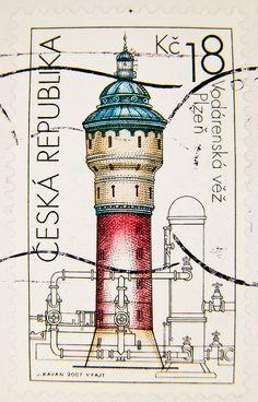 República Checa 2007 - Torre de agua de Pilsner Urquell, Wasserturm