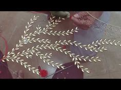 Golden Rice Bead Work Embroidery - YouTube
