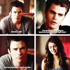 """S5 Ep7 """"Death and the Maiden"""" - Damon, Elena and Stefan"""
