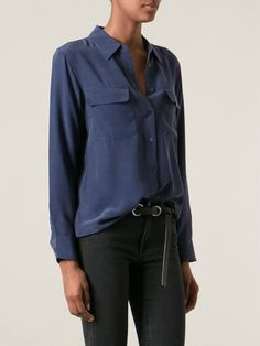 #equipment #silk #shirts #blue #bluenight #woman #fashion www.jofre.eu