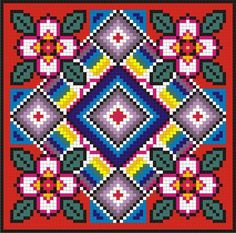 Square Patterns, Loom Patterns, Quilt Patterns, Cross Stitching, Cross Stitch Embroidery, Embroidery Patterns, Cross Stitch Pillow, Cross Stitch Heart, Cross Stitch Designs