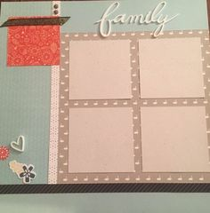 Family layout by Kati Harr Weaks. CTMH Swan Lake