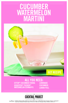 Bar Drinks, Cocktail Drinks, Cocktail Recipes, Beverage, Watermelon Martini Recipes, Effen Cucumber Vodka, Scones, Alcoholic Cocktails, Alcohol Drink Recipes
