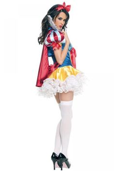 Snow White Princess Adult Costume Fancy Dress Set for Halloween or Cosplay Party Snow White Halloween Costume, Sexy Halloween Costumes, Halloween Fancy Dress, Halloween Party, Fantasy Costumes, Halloween Carnival, Cosplay Dress, Costume Dress, Cosplay Costumes
