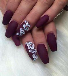 26 Cute Matte Nail Art Designs And Ideas You'll Love matte nails salon;matte nails how to;matte nails tumblr