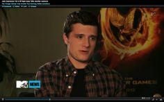 click on the picture to watch The Hunger Games stars Jennifer Lawrence, Josh Hutcherson and Liam Hemsworth share their favorite bands and much more!