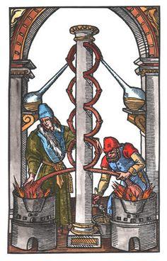 woodcut allen bjorkman alchemist - Google Search