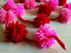 Valentine's Day Pom Pom Garland |Just B Crafty