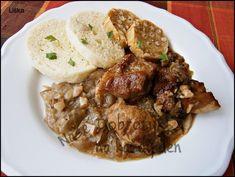 Moravský vrabec ze Zlína,připravený v papiňáku Polish Recipes, Stew, Pork, Menu, Treats, Ethnic Recipes, Diet, Cooking, Kale Stir Fry