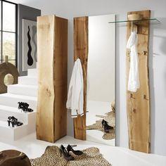 Garderobenset Woodkid I (3-teilig) - Eiche massiv | Home24