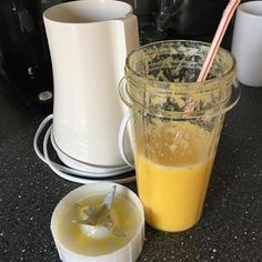 """In a rush for some juice? Use the personal blender for some orange, lemon, and ginger juice on the go. 📷: @kleeblatt321"""