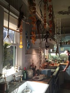 "The kitchen from ""Witches of East End""  In love with this whole house"