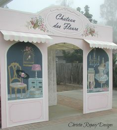 """French Shop"" booth façade ""sneek-peak"" for the Dec.5th-7th TVM show! C.Repasy"