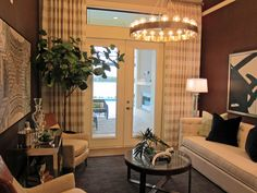 Home office designed by Beasley & Henley Interior Design. Naples-Winter Park