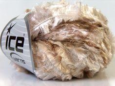 ice yarns ephesus light camel brown white shades by turkishmarket, $4.65