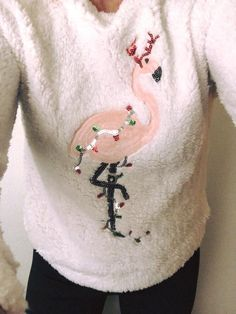 Christmas flamingo