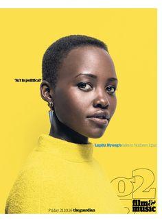 Guardian g2 cover: Lupita Nyong'o #lupitanyongo #editorialdesign #newspaperdesign #graphicdesign #design #theguardian