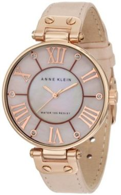 Anne Klein Women's 10/9918RGLP Leather Rosegold-Tone Pink Leather Strap Watch-- 10% DISCOUNT & FREE SUPER SAVER SHIPPING for a limited time!---> http://amzn.to/18AhW83