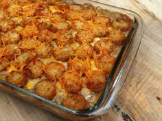 Cowboy Tater Tot Casserole | A fan favorite dinner recipe! Tater tots, cheese, ground beef... What more could you want?