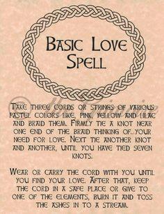 Magick Spells:  Basic Love #Spell.