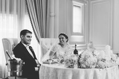Toasts during a wedding at the Inn at New Hyde Park. Captured by NYC wedding photographer Ben Lau.