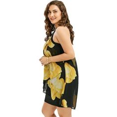 Sexy Flor O neck Chiffon Mini Tank Dress