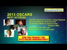 2013 Oscars! Academy Awards Nominations Predictions.