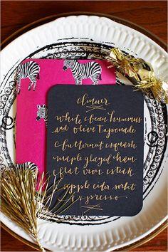 wedding menu, calligraphy #wedding #paper #menu