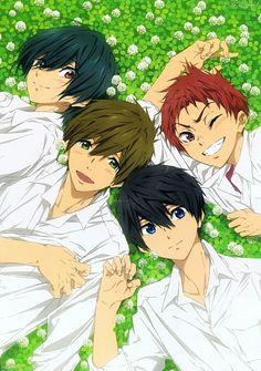 free!, haru, makoto, asahi shiina, ikuya kirishima