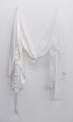 Anne-Sophie Berger | when I am with you/when I am not there, 2014 | silk, thread, cotton, thread