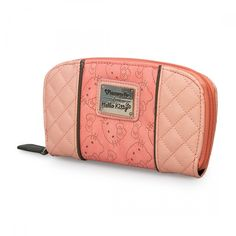 Hello Kitty Pink With Grey Perforated Zip Wallet