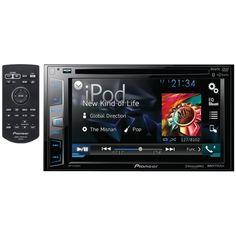 Pioneer DVD Receiver Bluetooth Siri Eyes Free SiriusXM-Ready HD Radio Android Music Support Pandora and Dual Camera Inputs