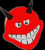 Diabełki, diabły - gify animowane obrazki Emoji, Pikachu, Humor, Fictional Characters, Art, Art Background, Cheer, Kunst, The Emoji