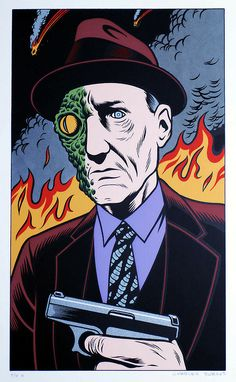 William S. Burroughs by Charles Burns.