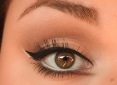 White Eyeliner   MUA Tips: How to Fake Big Eyes with Makeup