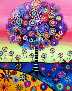 Tree of life mosaic painting by Sebsgrammy
