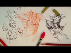 How to Draw Complex Forms Part 3   Outline and sculpt forms like Michelangelo - YouTube