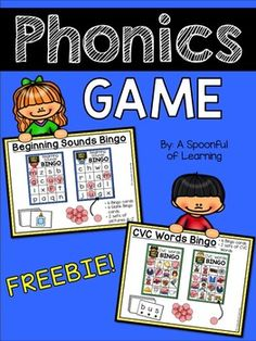 This FREEBIE isn't just your average game of bingo... it has a phonemic awareness twist! Included are 2 different phonemic awareness bingo games: • Beginning Sounds • CVC Words These games are a great and fun addition to small groups, intervention, centers, and more!