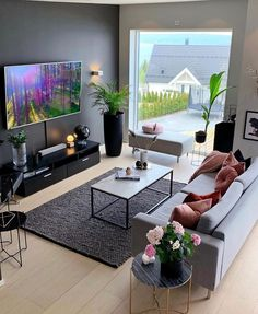 These 10 minimalist living room decor ideas will inspire you to clear the clutter and make your living space classic, clean and even more homely! Living Room Ideas 2019, Living Room Modern, Home Living Room, Apartment Living, Interior Design Living Room, Living Room Designs, Living Room Decor, Bedroom Decor, Small Living Room Ideas With Tv