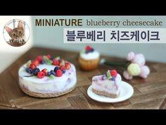 미니어쳐 블루베리 치즈케이크/miniature blueberry cheesecake - YouTube