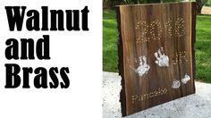 Walnut and Brass Slab Plaque