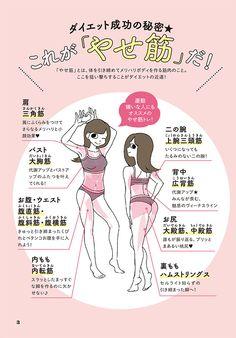 太りやすくて、やせにくい「反り腰ねこ背」になっていませんか? 姿勢で体型が変わる!/やせ筋トレ 姿勢リセット① | ダ・ヴィンチニュース Health Diet, Health Care, Fitness Diet, Health Fitness, Ab Diet, Muscle Training, Yoga Flow, Diet Motivation, Body Image