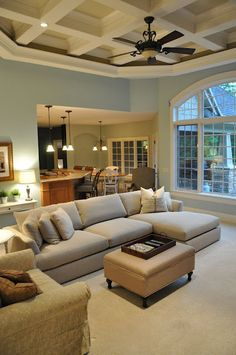I like this layout for a living room.
