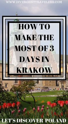 How to make the most of 3 days in Krakow Poland. It's hard to make the most out of your visit to Krakow Poland. It's a European city that is jam packed with lots to do and see. We have put together one of the best travel guides online highlighting how to make the most of 3 days in Krakow Poland. This is a must read if you are planning a visit to Poland. Click to read the full travel blog post at https://www.divergenttravelers.com/things-to-do-in-krakow-poland/ #Krakow #Poland #Travel