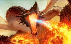 dragons breathing fire | Description: The Wallpaper above is Fire breathing Dragon Wallpaper in ...