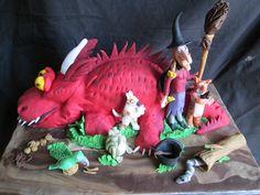 Fantastic Room On The Broom Dragon Cake