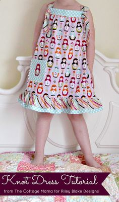 The Cottage Mama: Easy Knot Dress ~ Free Pattern and Tutorial