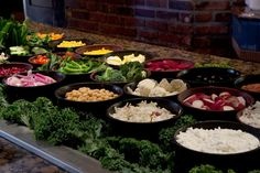 Classic salad bar selection at Chuck's Steakhouse